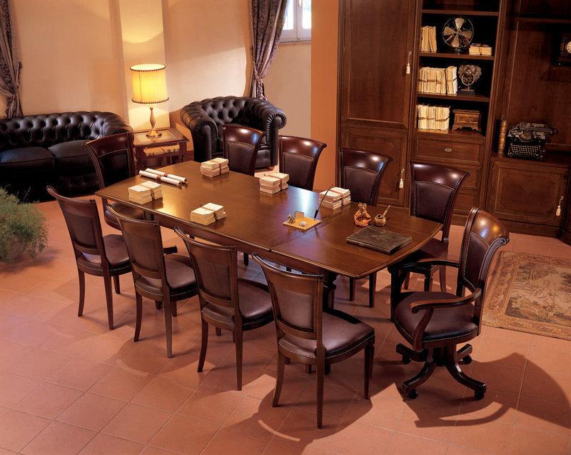 Рабочий домашний кабинет с переговорной зоной
