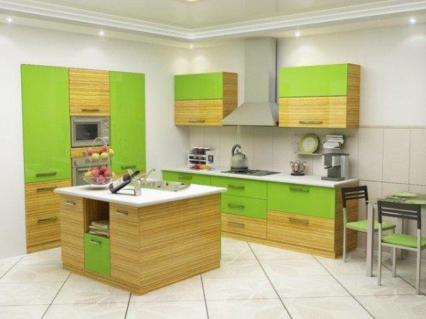 мятные кухни в интерьере фото