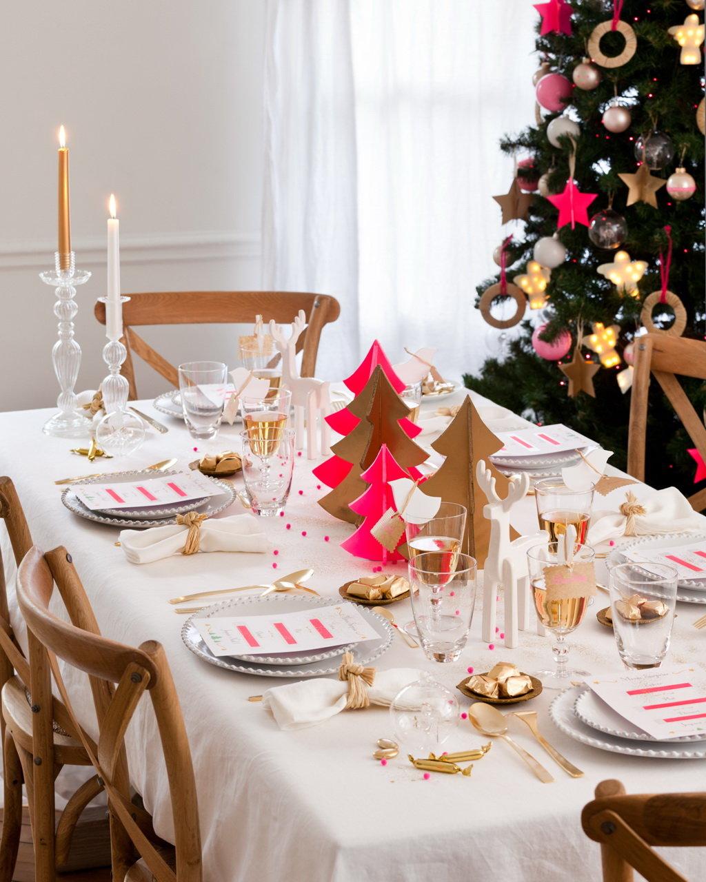 украшаем стол к новому году фото эту