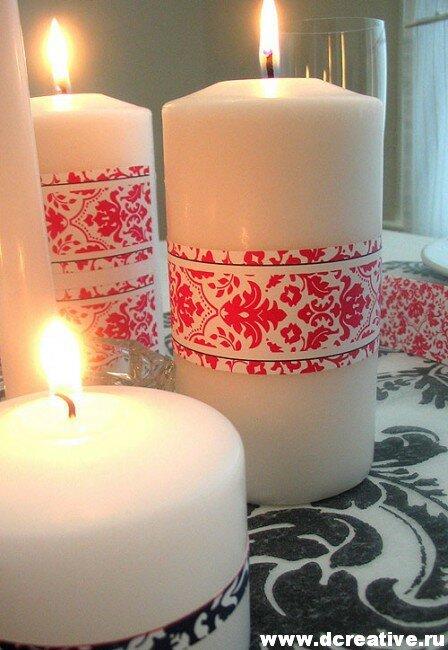 свечи с рисунками