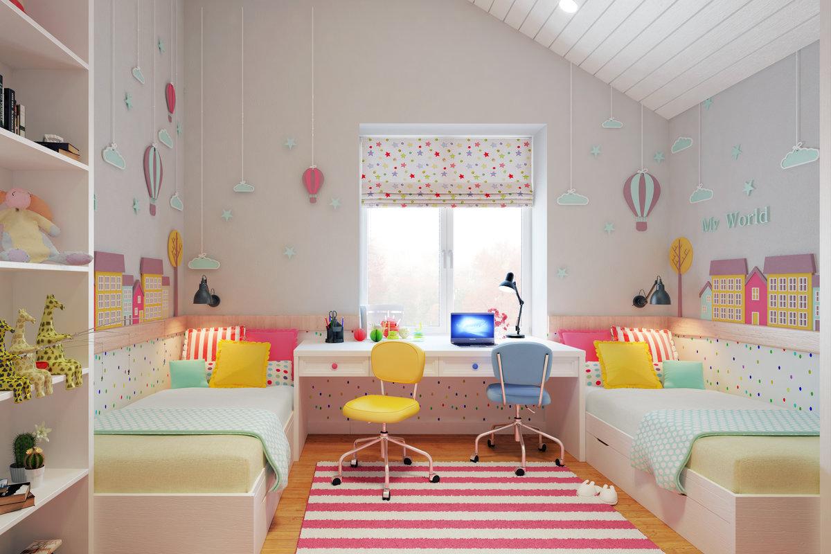 صور غرف نوم أطفال بنات