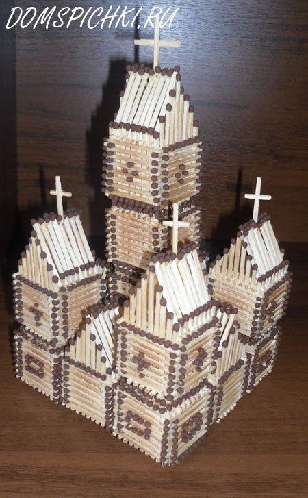 Церковь из спичек