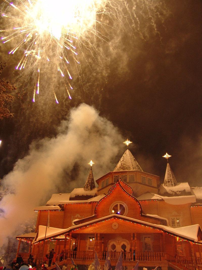 Новогодний праздничный салют