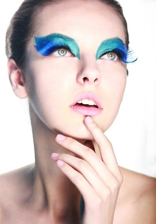 Макияж в сине-зеленых тонах :: Fashion Stylist