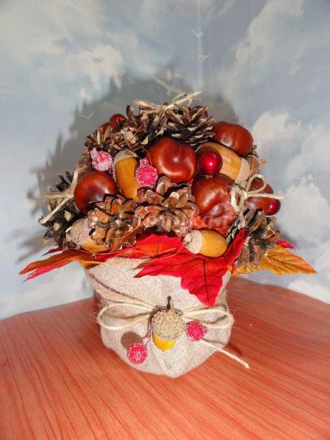 Осенняя композиция из природных материалов своими руками