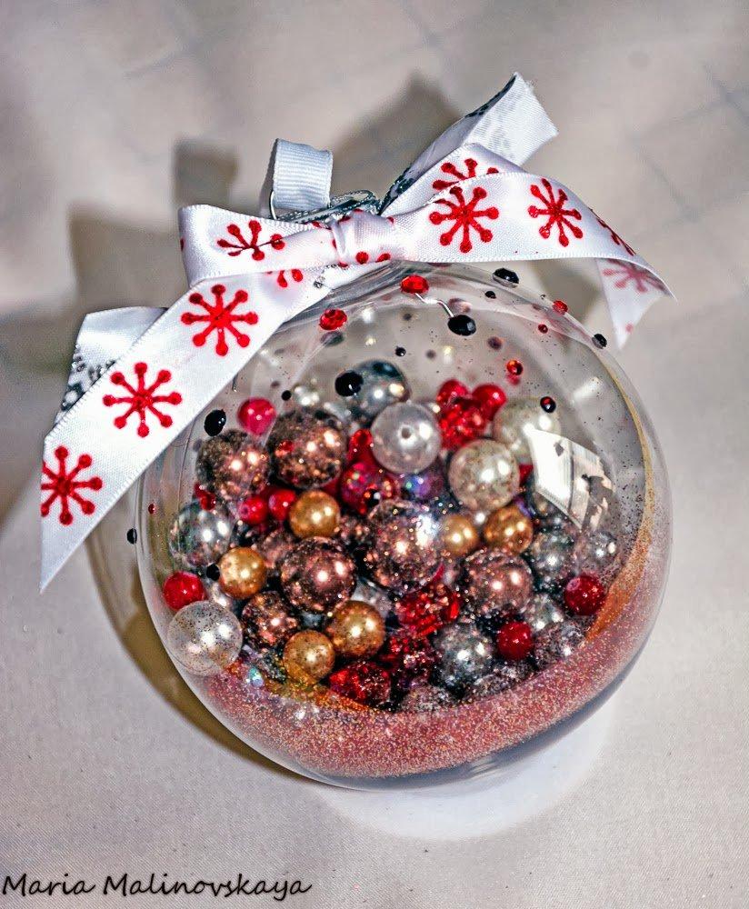 поделка новогодний шар своими руками фото сопровождении
