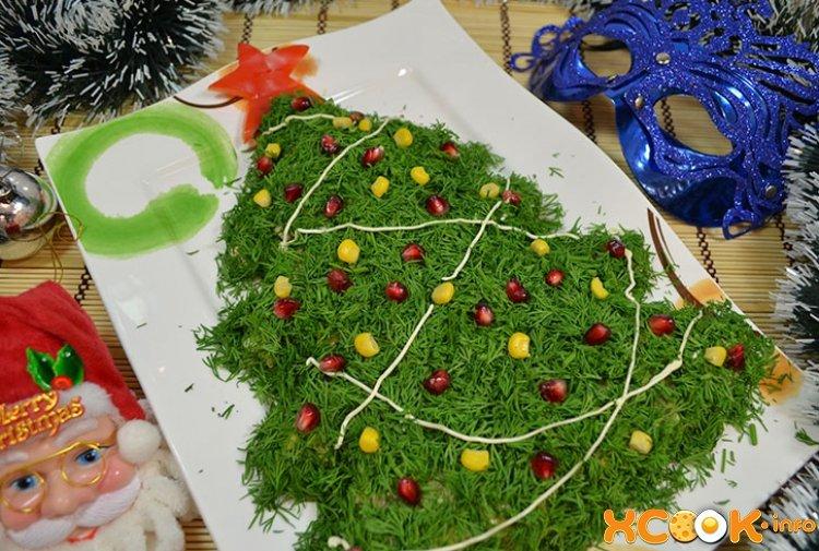 Рецепт салата новогодняя елочка с фото
