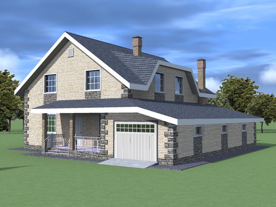 северный ветер двухэтажные дома проекты с отдельным гаражом сайт компании Доронинское