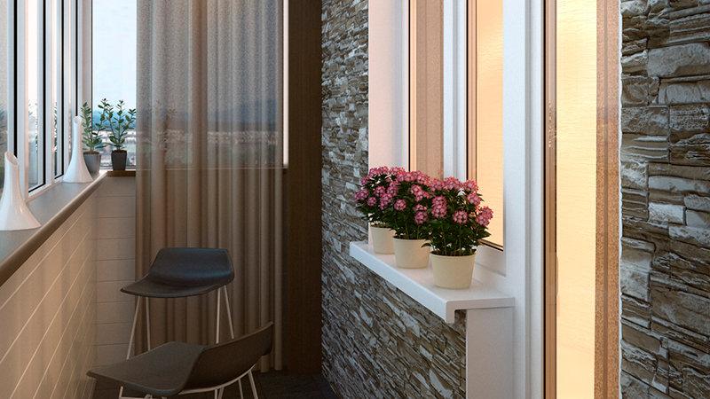 Как украсить лоджию или балкон своими руками, варианты оформ.