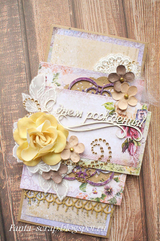 Открытка конверт с днем рождения своими руками скрапбукинг