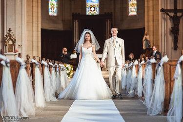 католическое венчание пары