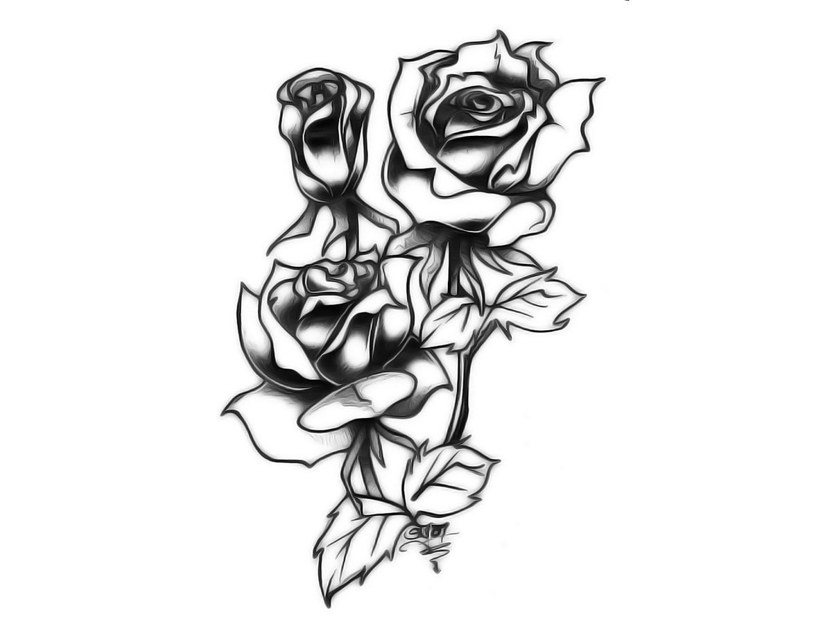 тату картинки распечатать эскизы роза самой