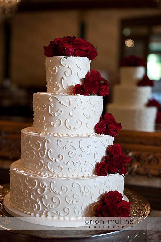 Торт в бирюзовом цвете на свадьбу