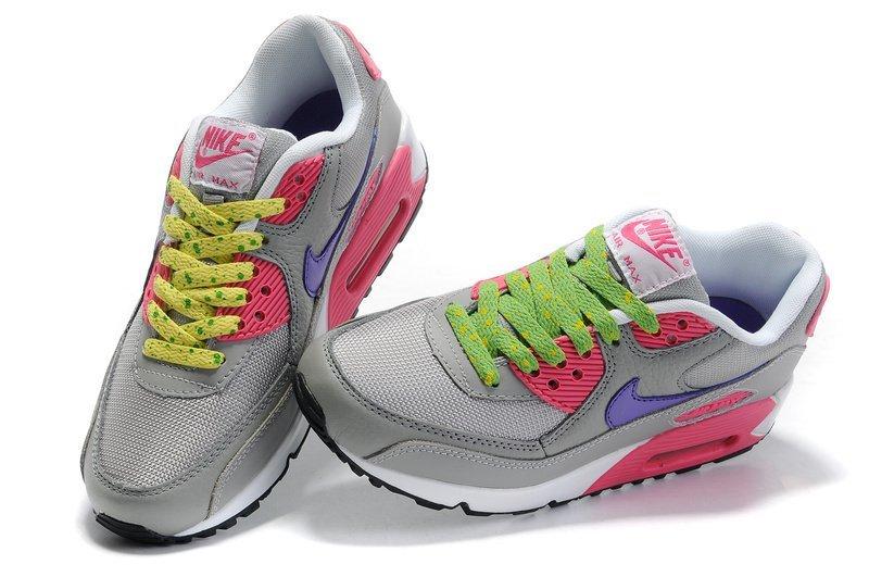 Серо-розово-фиолетовые цвета женские кроссовки Nike Air Max 90 - 39W ... f4e6b1c546a
