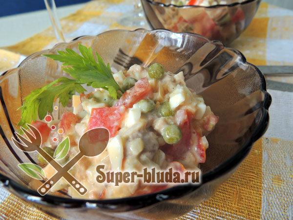 несложный салат рецепт