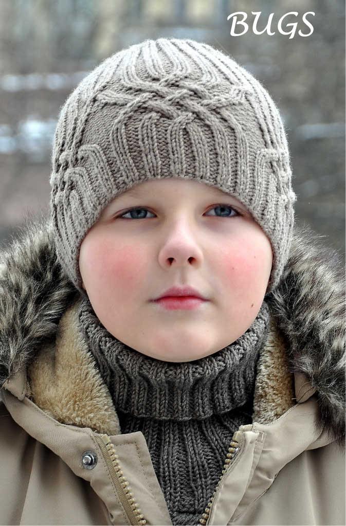 Вязание шапки для подростка и мужчины. Схема вязания 8