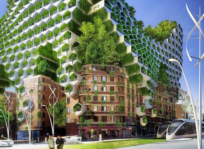 Архитектура будущего: кочующие небоскребы и зеленые город...