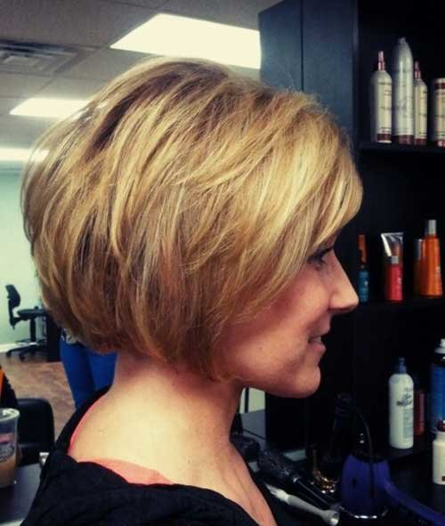 Layered wedge bob haircut