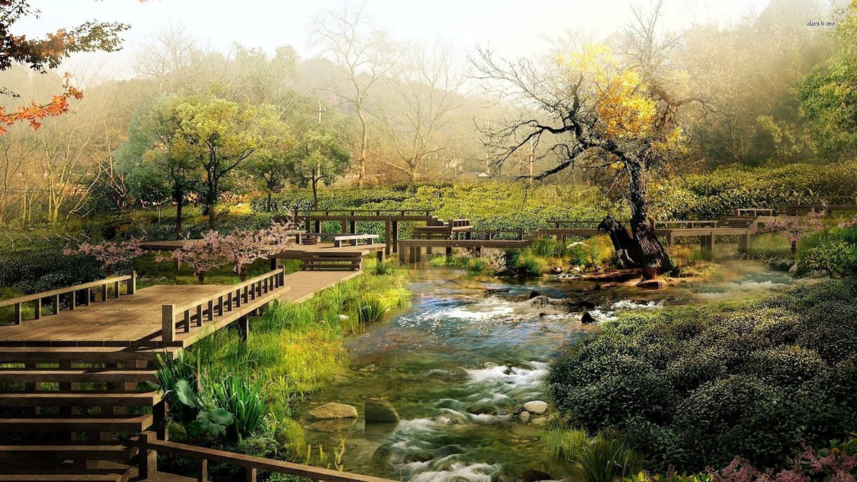 Spring Japanese Garden Wallpapers Iphone