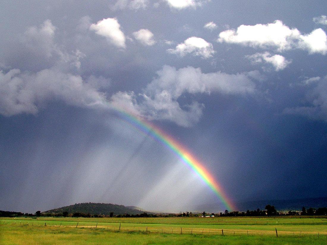Открытки радуга и дождь
