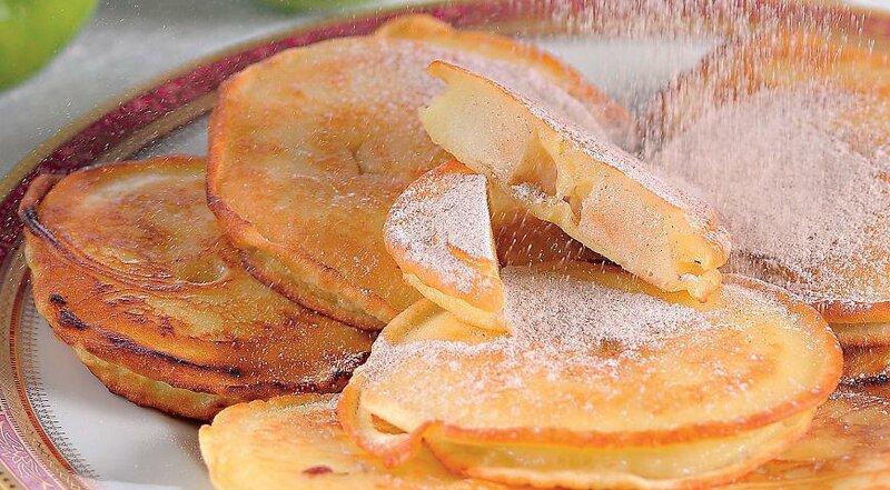 Оладушки из яблок рецепт с фото пошагово