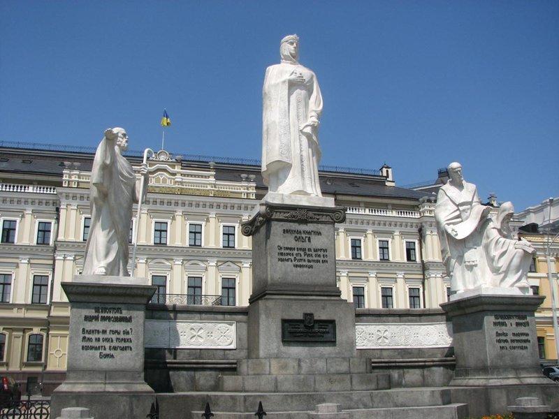 Памятники Киева - Интересный Киев памятник княгине Ольге