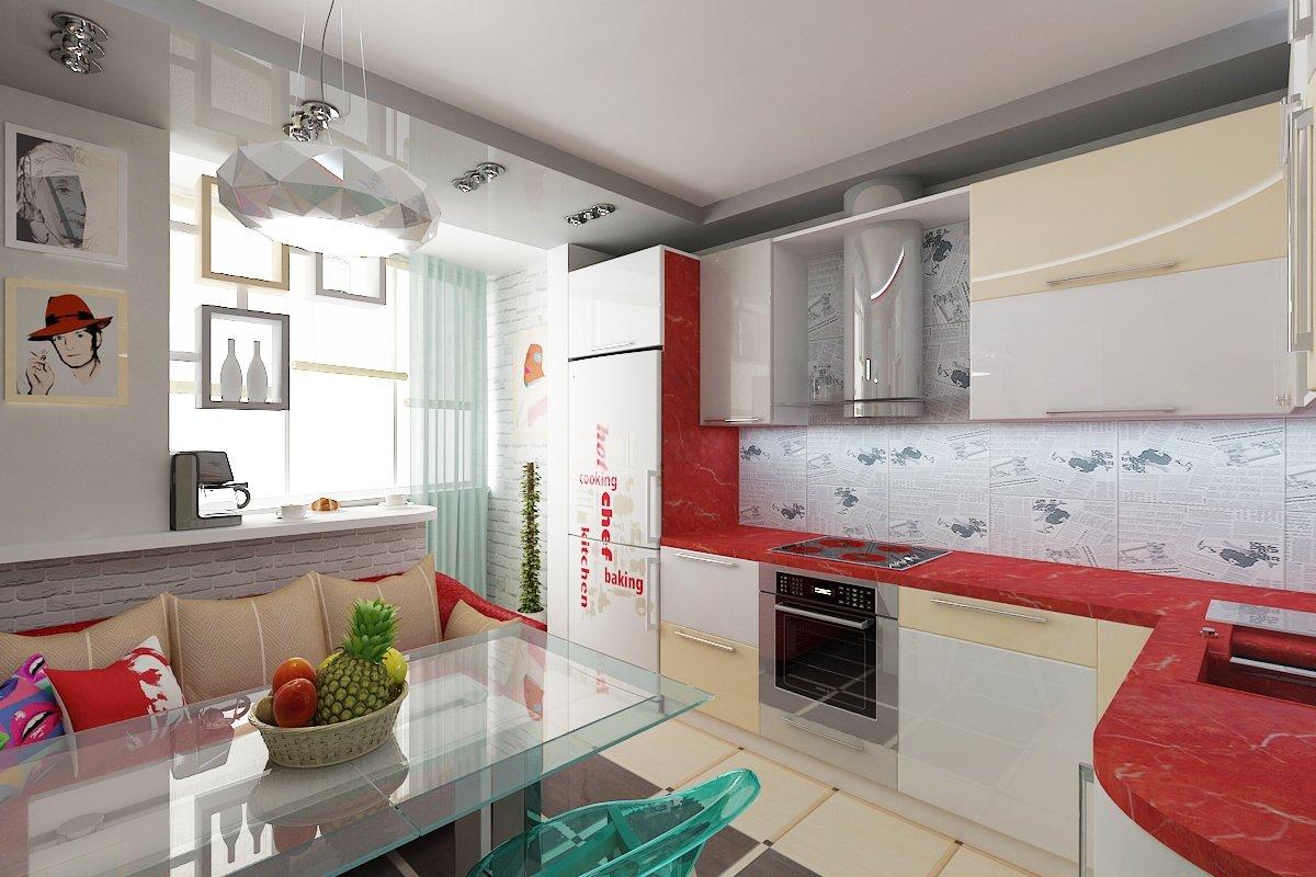Дизайн кухни, совмещенной с лоджией, особенности интерьера, .