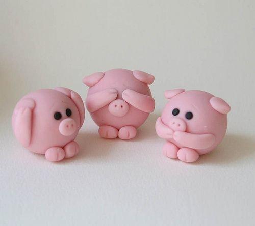 Пластилиновые свинки