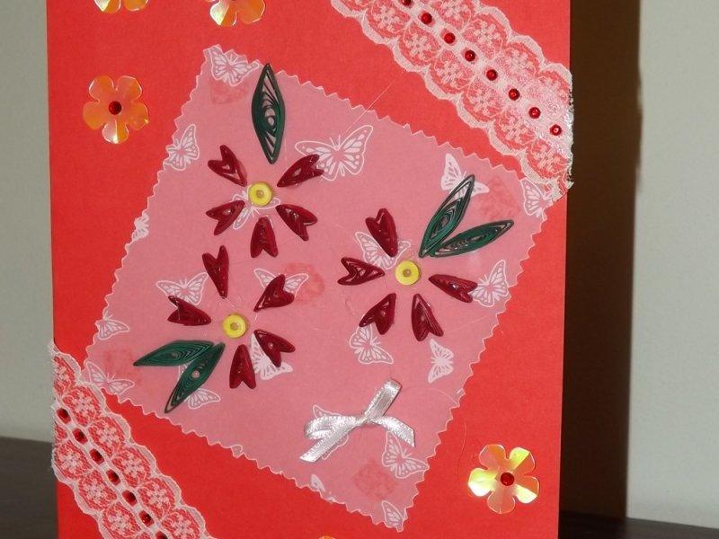 Открытку, красивая открытка маме своими руками на 8 марта