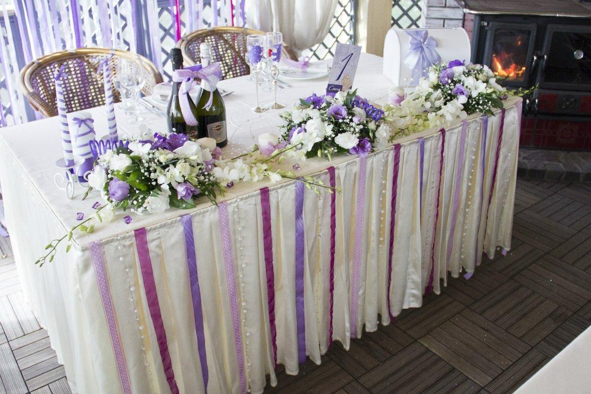 Свадебный стол оформление своими руками фото