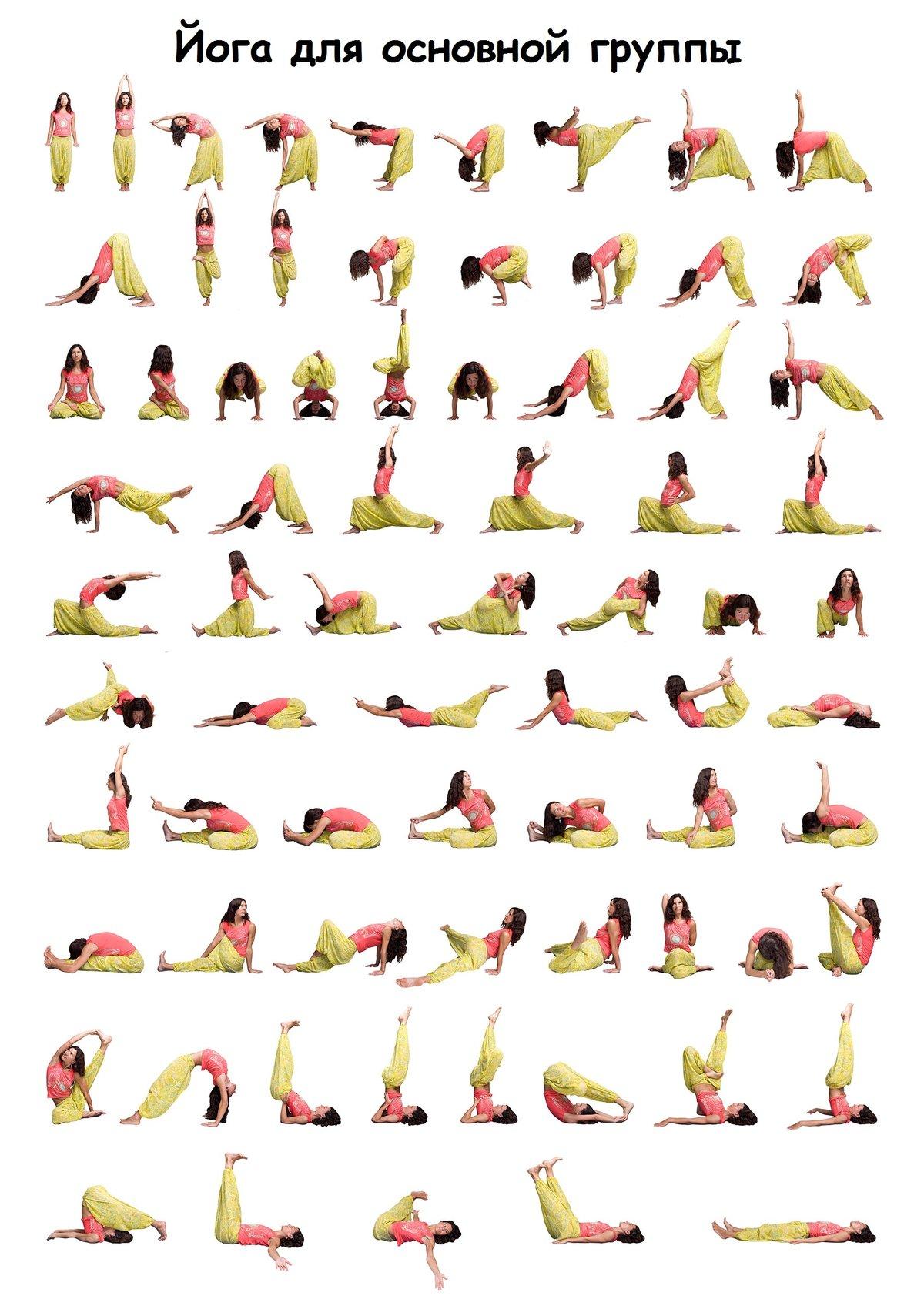 Открытки, позы йоги в картинках