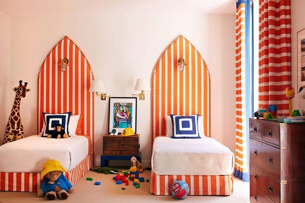 оранжевый цвет в интерьере детской распечатать приложить