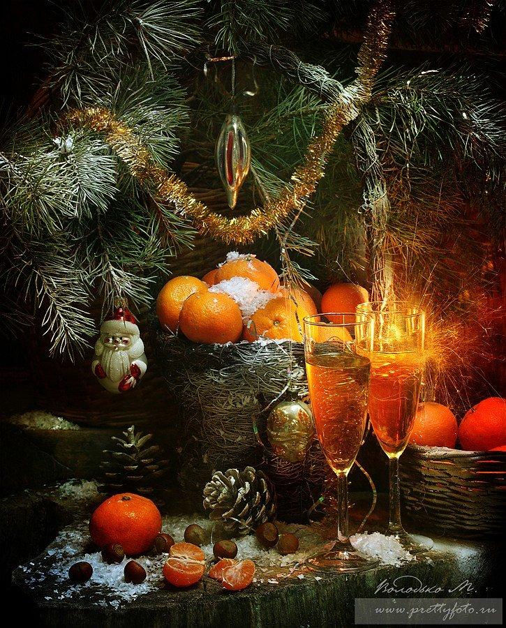 Днем, новогодний натюрморт открытка