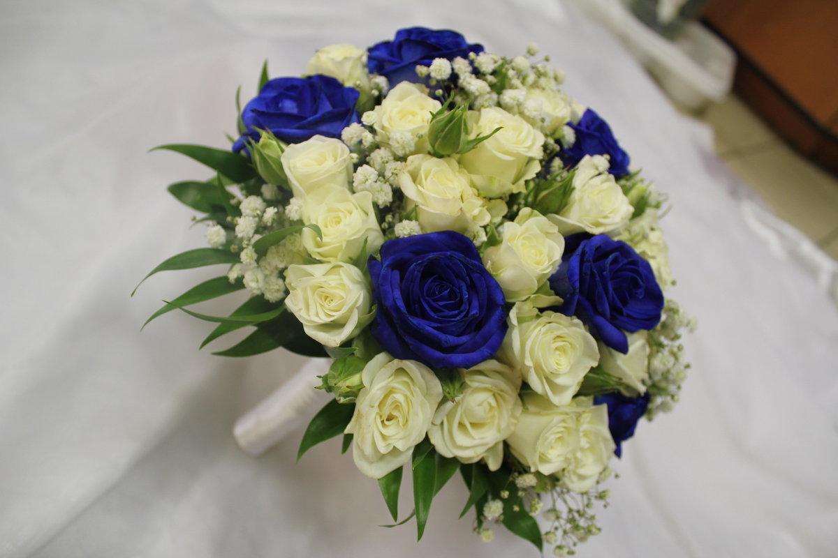 Синий букет для невесты фото, цветов талица