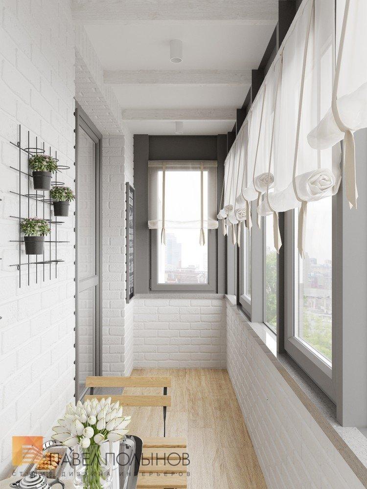 """Лоджия в проекте """"интерьер 3-х комнатной квартиры в стиле пр."""