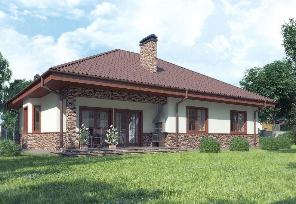 дизайн фасада одноэтажного дома