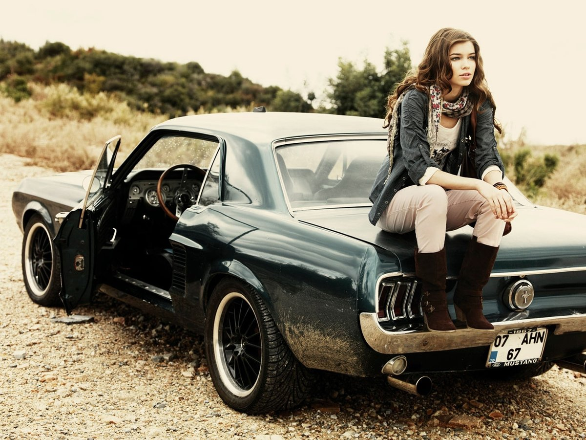 sexy, models and girl car on pinterest muscle-car-and-girl-hd