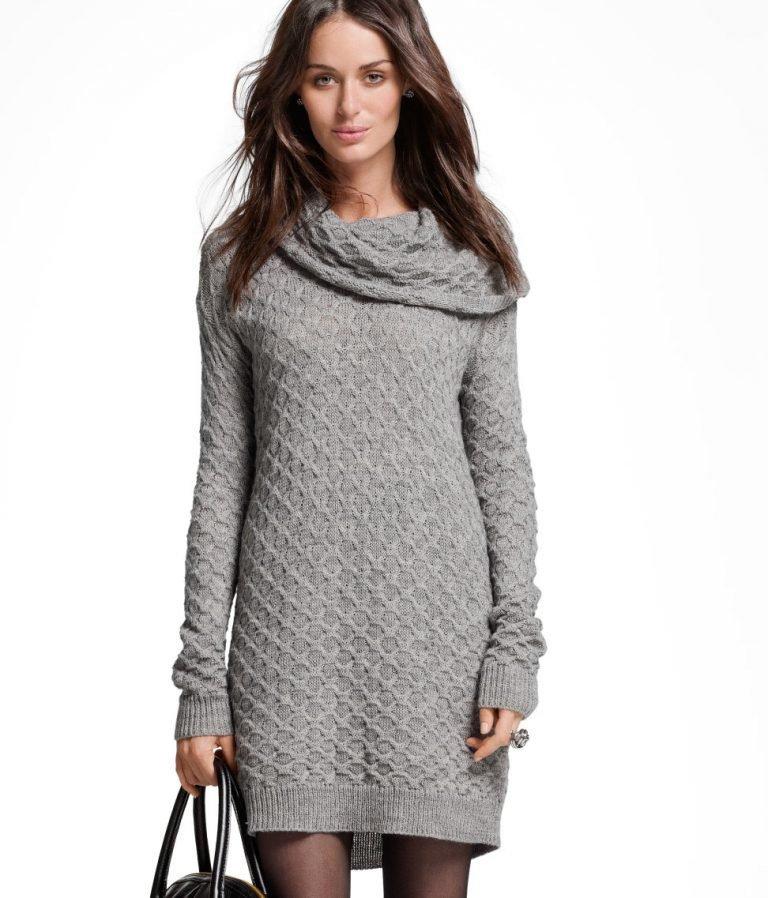 Вязаные длинные пуловеры женские фото