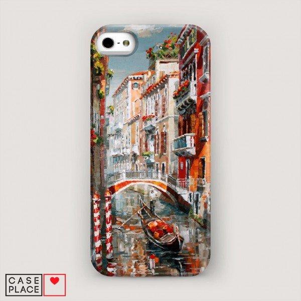 Чехол для iPhone 5/5S/SE Нарисованная Венеция.