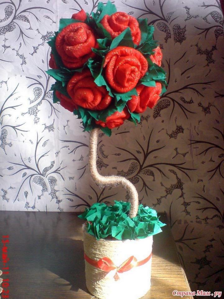 Розы бумаги своими руками мастер класс 161