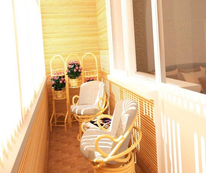 """Балкон в хрущевке в золотистом оттенке"""" - карточка пользоват."""