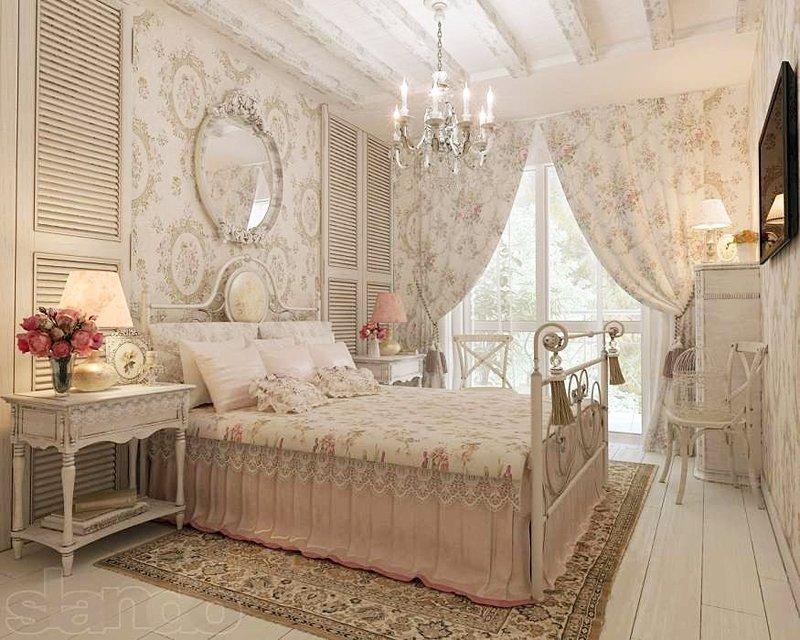 В зависимости от того, в каком стиле вы сделали спальню, будет зависеть облик штор.