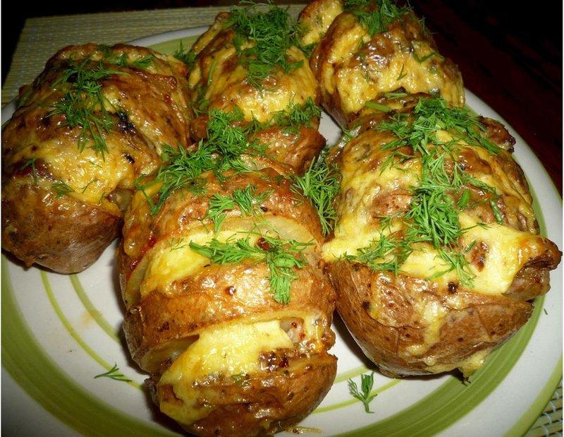 рецепты картофеля мясом духовке фото