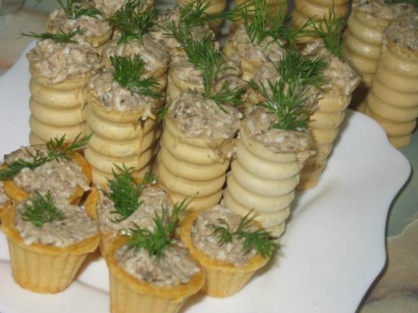 тарталетки трубочки с начинкой рецепты с фото