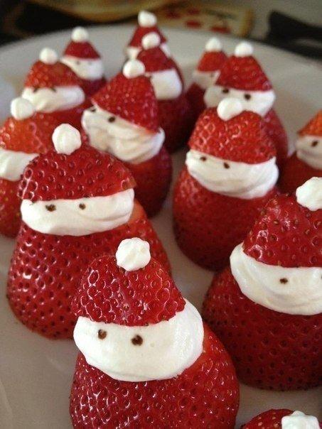 Дед Мороз из клубники.