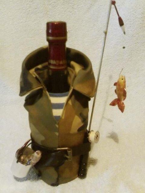 Подарок рыбаку своими руками бутылка