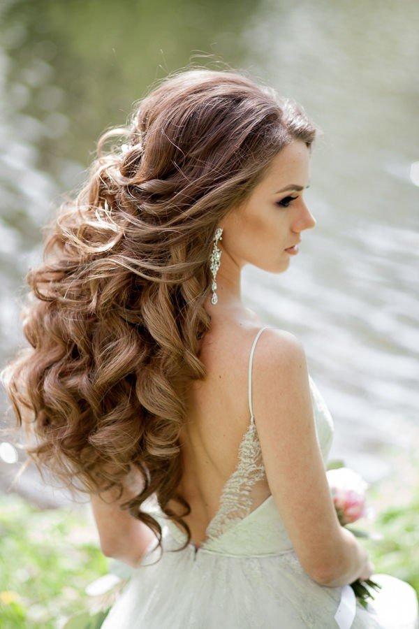 Длинные волосы свадебная прическа