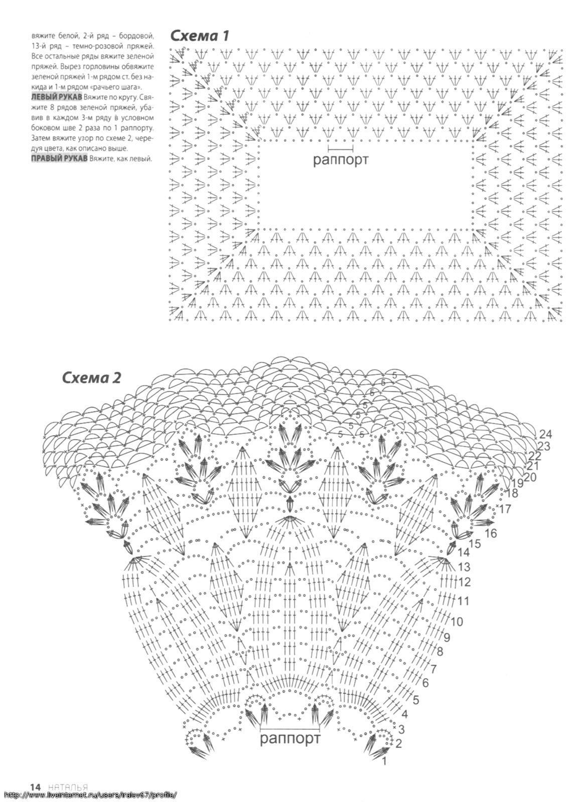 детские схема платья описание крючком
