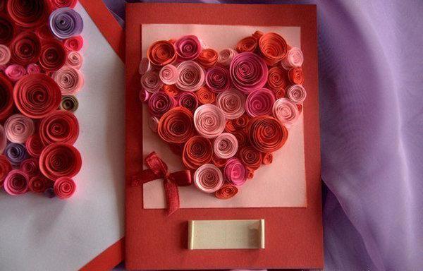 Открытка с розами на день матери своими руками, аниме