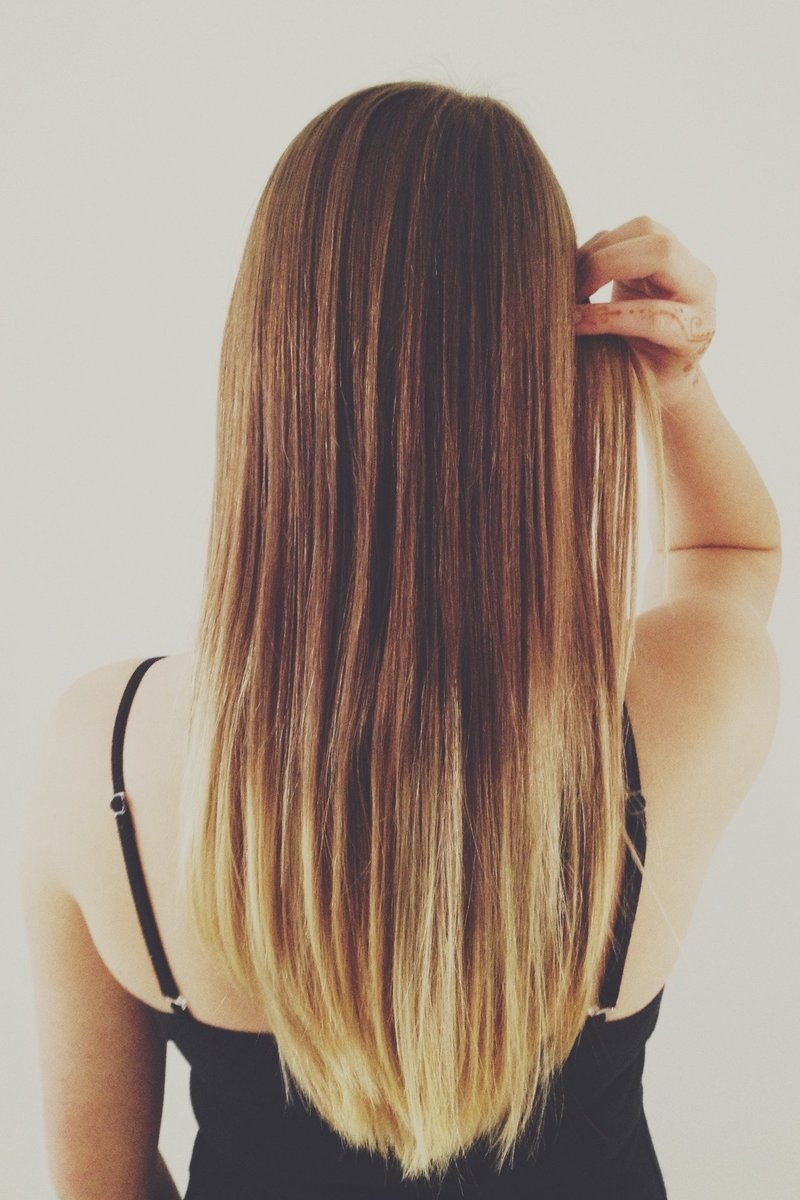 Русые волосы прямые